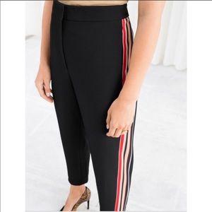 Racer Stripe Black Trousers BRAND NEW